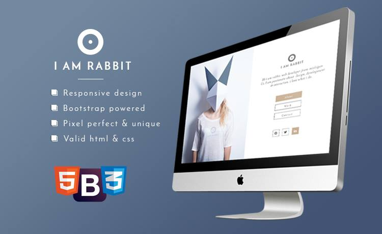 Descargar gratis themes template BootStrap Rabbit