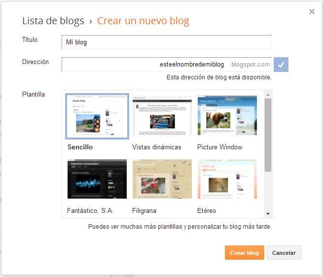 crear blog en blogger