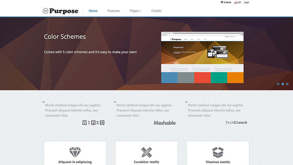 Descargar gratis themes template BootStrap mPurpose