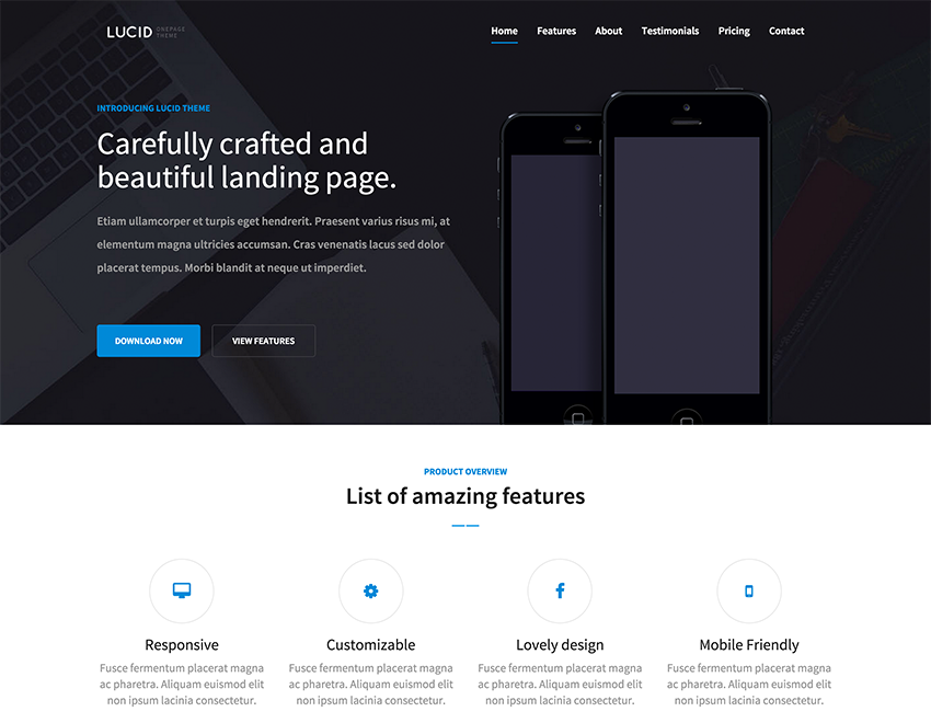 Descargar gratis themes template BootStrap Lucid - HTML5 and ...