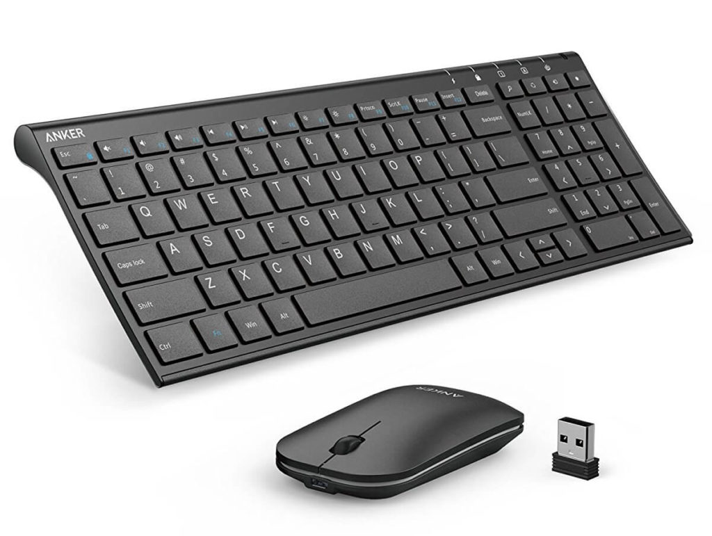 Anker 2.4GHz Wireless Keyboard and Mouse Combo for Windows Devices