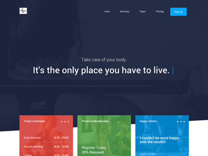 Descargar gratis themes template BootStrap Cardio One Page Template