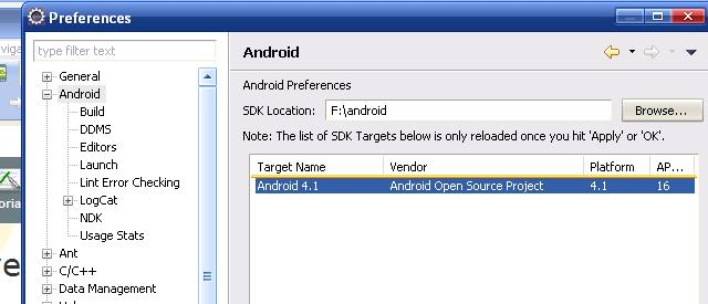 android sdk configuración integrar eclipse