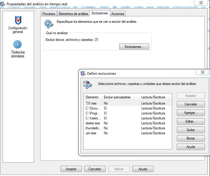 antivirus tiempo real