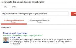 foto parar codigo enriquecido google +