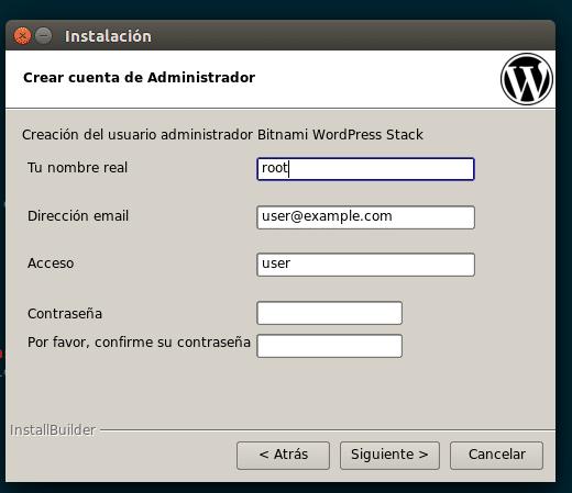 user pass